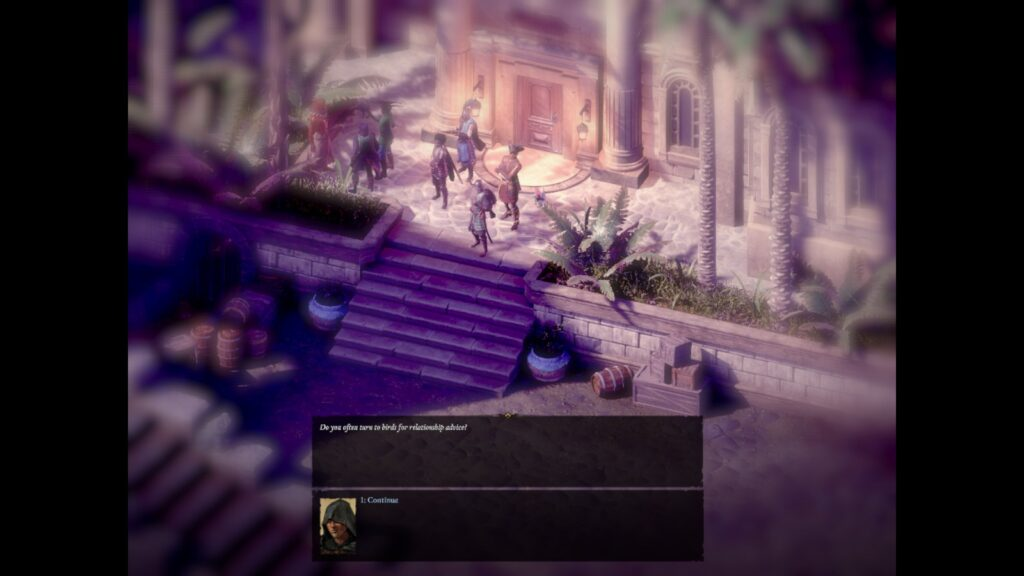"To be fair, romances never were a strong suit for classic RPGs. And PoE2  is no exception. I mean, if romantic relations with a girl involve you feeding her bird and a bird part is more interesting than actual romance, than something is wrong with that romance. So you better stick to ""personal quests"" and ""bonuses"" that you receive after gaining high enough reputation with your chosen teammate."