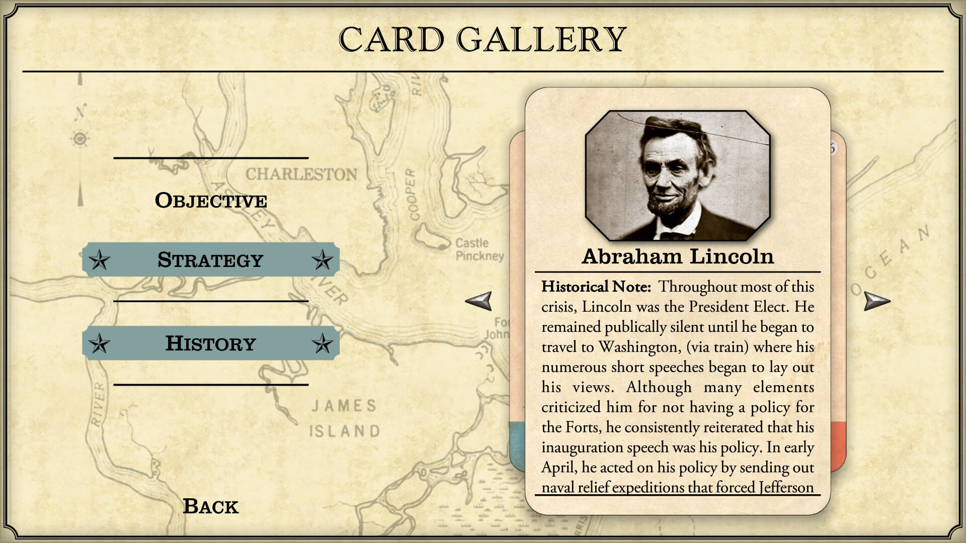 Fort Sumter Card Gallery