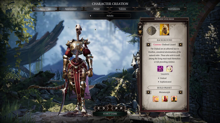 Divinity Original Sin 2 Character creation