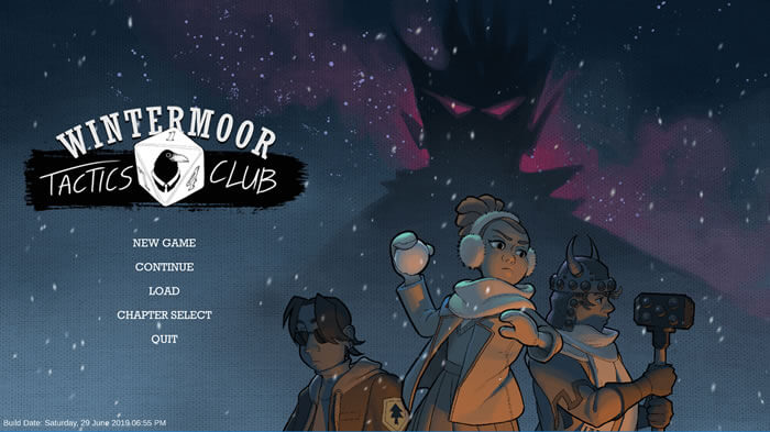 Wintermoor Tactics Club Title Screen