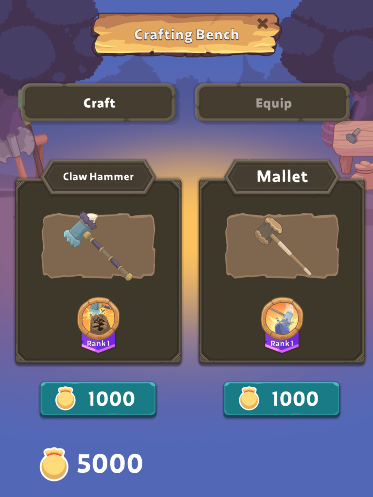 Weapons Crafting