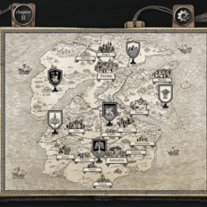 The Life and Suffering of Sir Brante World Map